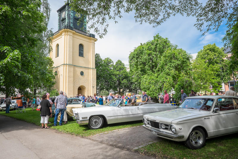 Het vieren van de Nationale dag van Zweden stock fotografie