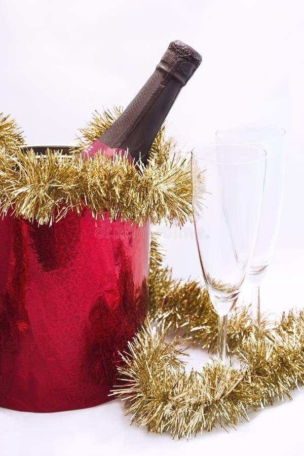 Het vieren van nieuw jaar (Kerstmis) 2 stock foto