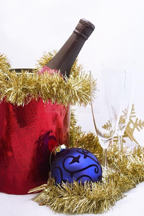 Het vieren van nieuw jaar (Kerstmis) stock foto