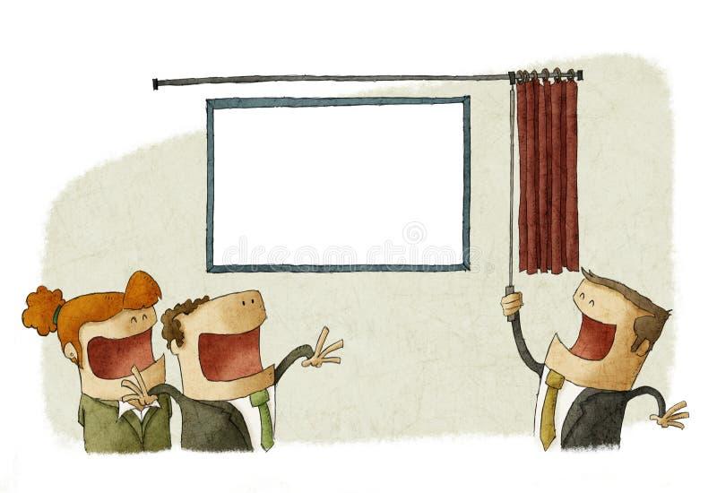 Het vieren van zaken opent royalty-vrije illustratie
