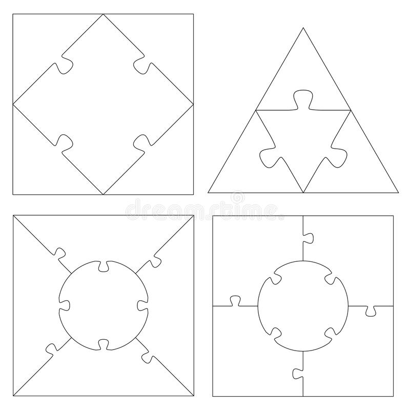 Het Vierkant + de Driehoek van raadselmalplaatjes royalty-vrije illustratie
