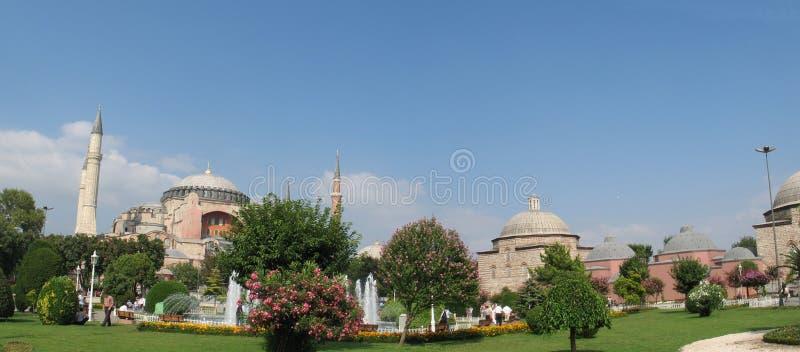 Het vierkant en Hagia Sophia van Sultanahmet stock foto