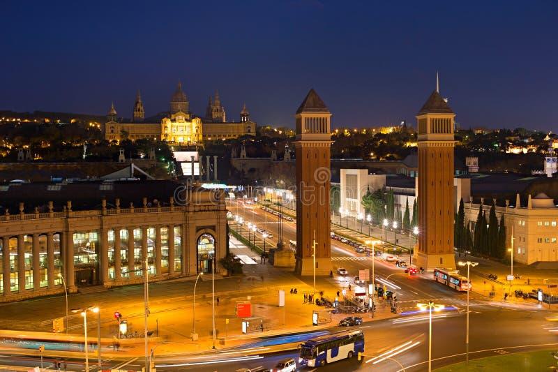 Het Vierkant van Barcelona Spanje royalty-vrije stock fotografie