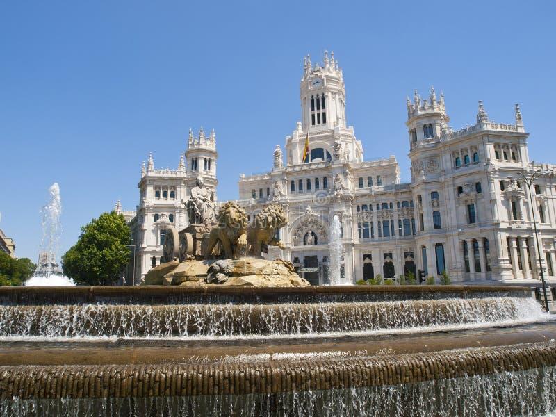 Het Vierkant van Cibeles, Madrid royalty-vrije stock afbeelding