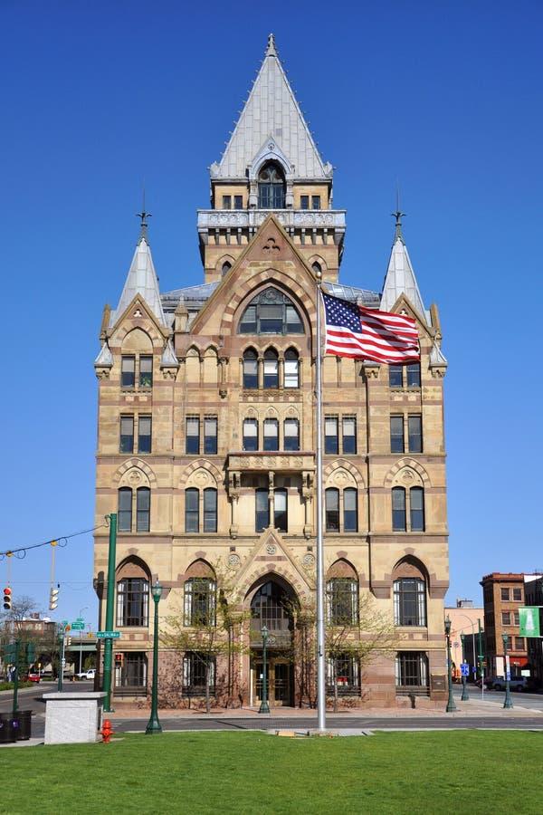 Het Vierkant van Clinton, Syracuse, New York stock foto's