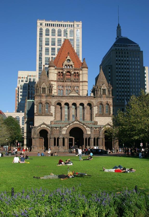 Het Vierkant van Copley, Boston stock foto's