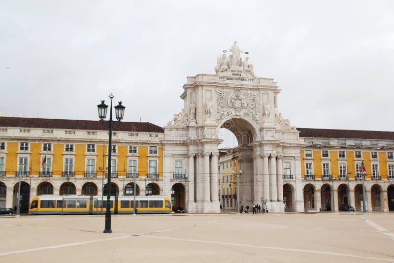 Het Vierkant van de handel, Lissabon, Portugal royalty-vrije stock afbeelding
