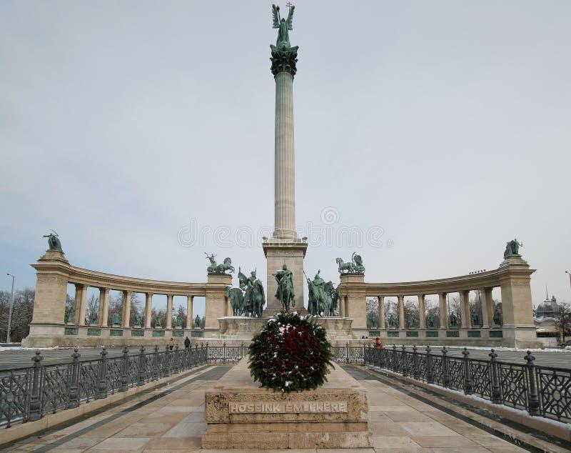 Het Vierkant van de held - Boedapest 2 royalty-vrije stock afbeelding