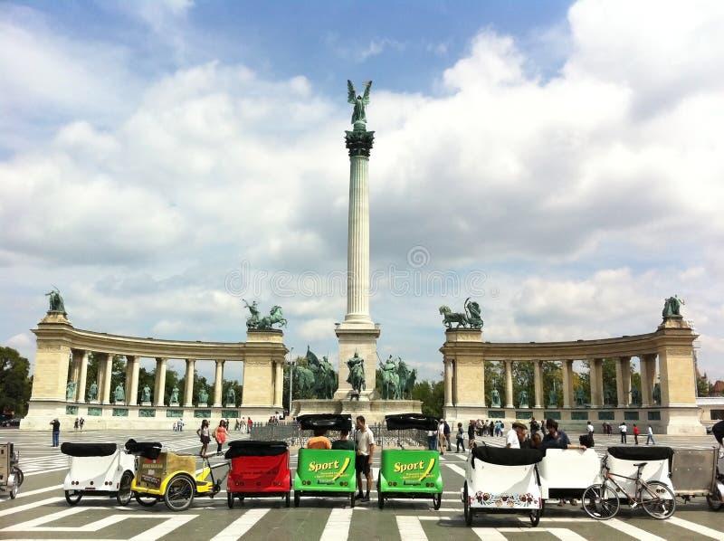 Het Vierkant van de held, Boedapest royalty-vrije stock afbeeldingen