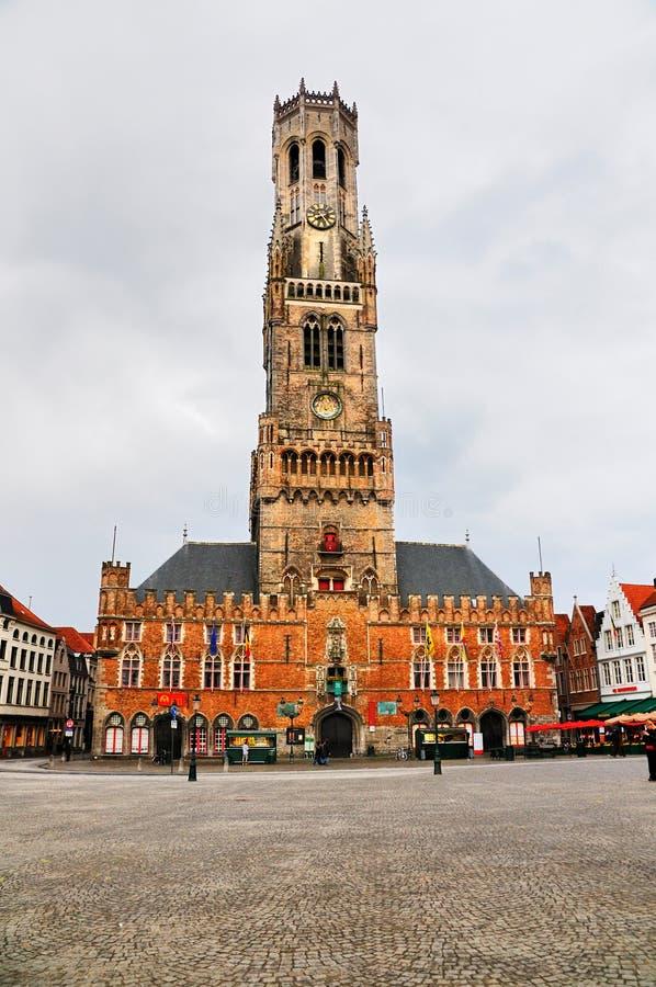Belfort (Klokketoren) van Brugge, België royalty-vrije stock foto's