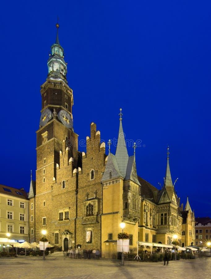 Het vierkant van de Markt, Wroclaw in Polen royalty-vrije stock foto