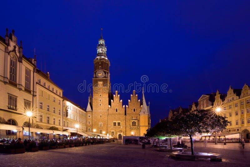 Het vierkant van de Markt, Wroclaw in Polen royalty-vrije stock afbeelding