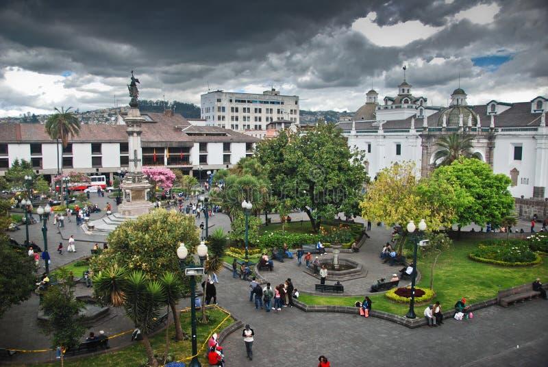 Het Vierkant van de onafhankelijkheid in Quito royalty-vrije stock afbeeldingen