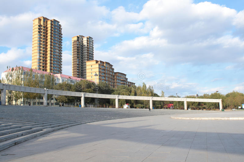 Het vierkant van de stad stock afbeelding