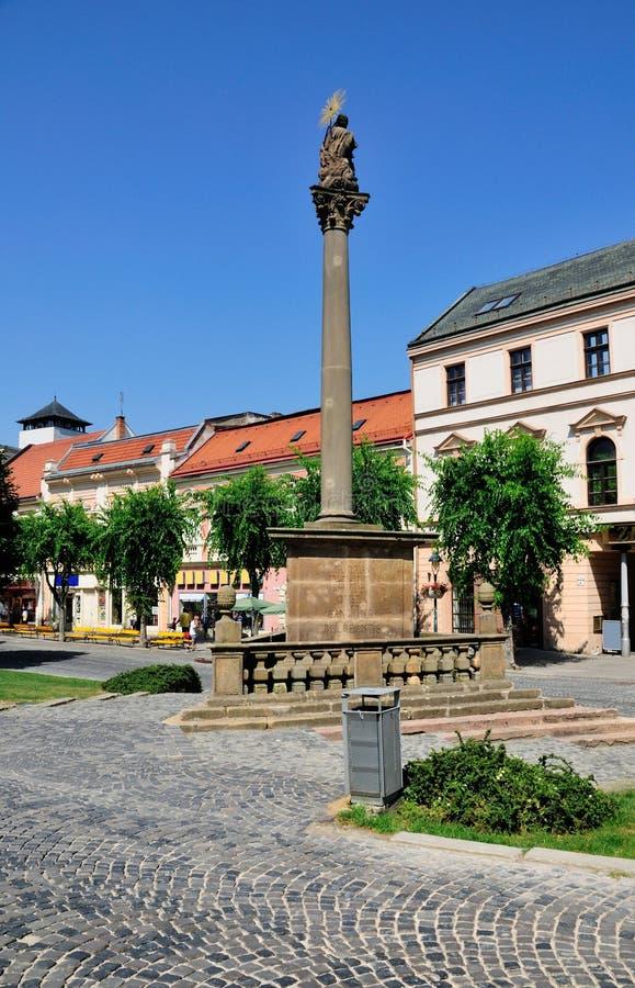Het Vierkant van de stad van Trencin, Slowakije royalty-vrije stock afbeelding