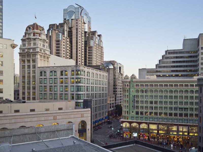 Het Vierkant van de Unie, de scène van San Francisco royalty-vrije stock afbeeldingen