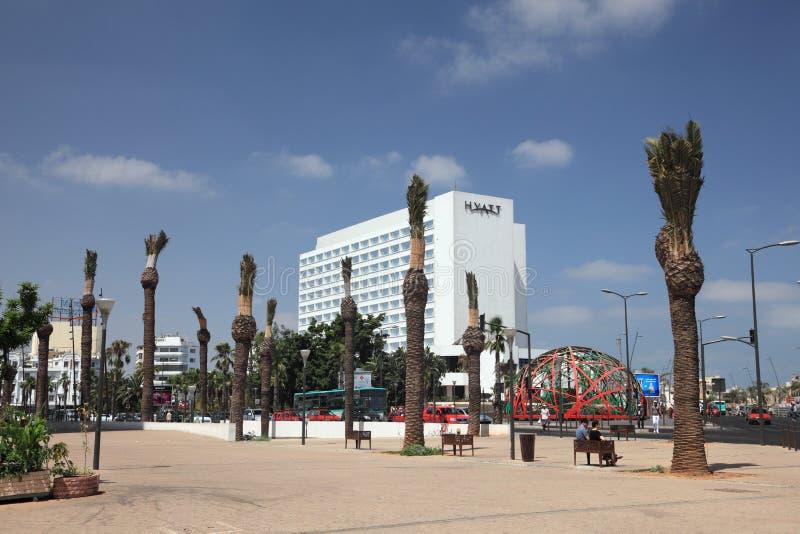 Het Vierkant van de Verenigde Naties in Casablanca royalty-vrije stock foto