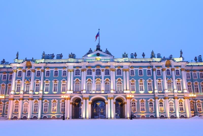 Het Vierkant van het de winterpaleis, St. Petersburg, Rusland stock foto