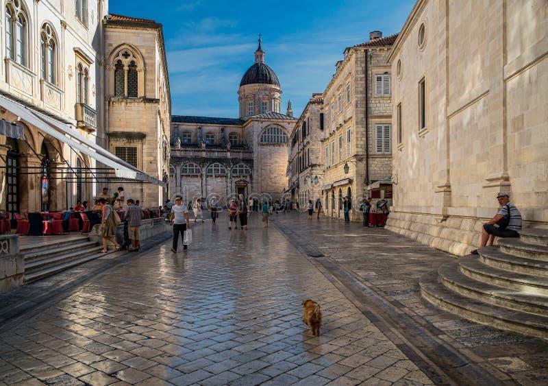 Het vierkant van Dubrovnik royalty-vrije stock foto's