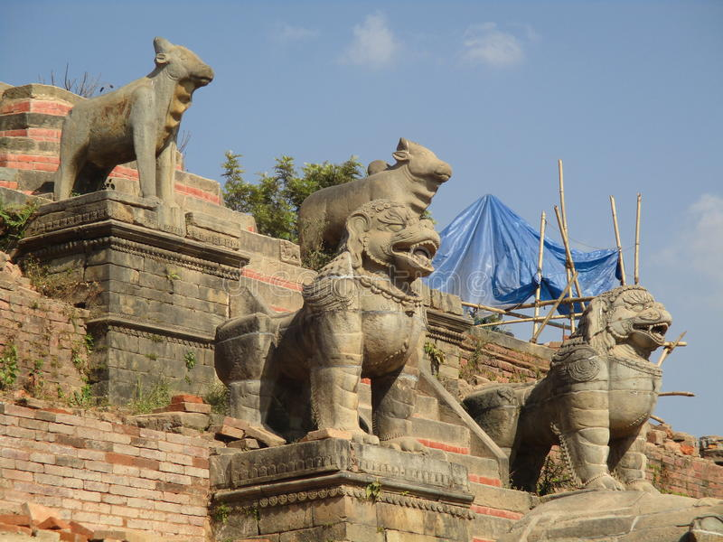 Het Vierkant van Durbar van Bhaktapur stock afbeeldingen