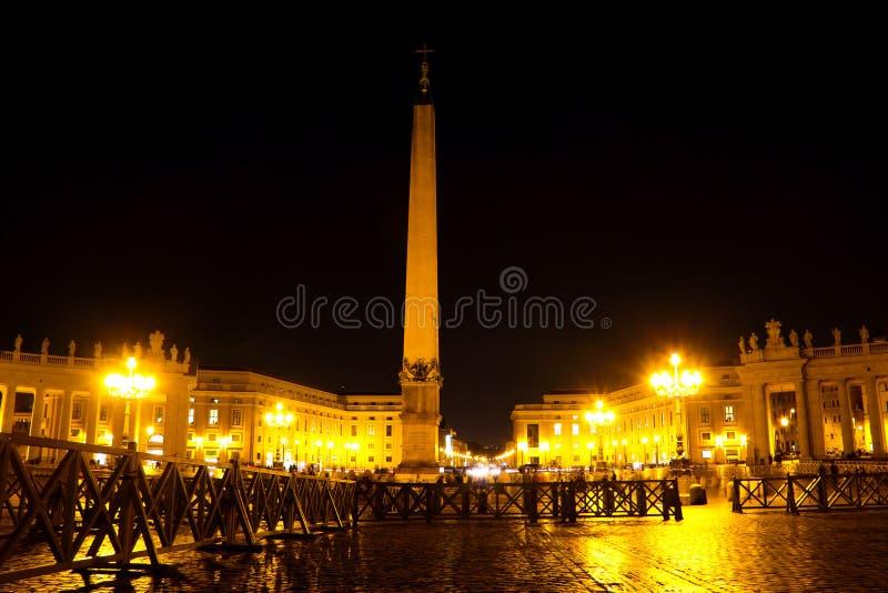 Het Vierkant van heilige Peter in Rome royalty-vrije stock foto's