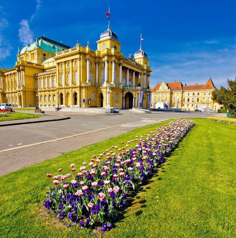 Het vierkant van hofmaarschalkTito in Zagreb stock foto
