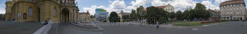 Het vierkant van hofmaarschalkTito in Zagreb, Vroatia royalty-vrije stock afbeelding