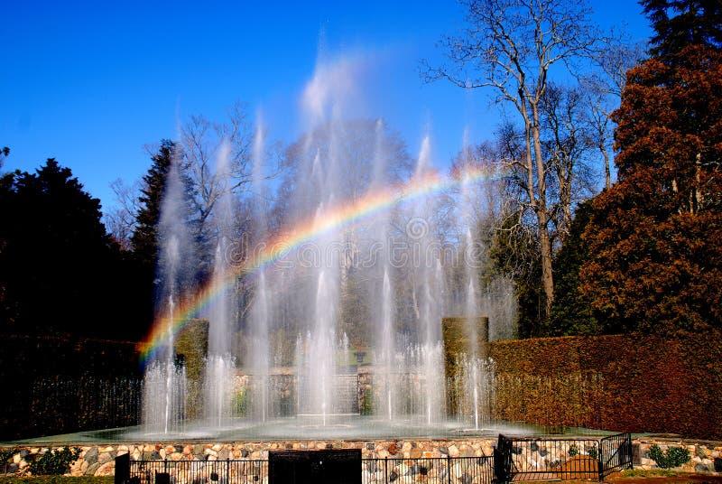 Het Vierkant van Kennett, PA: De Fonteinen van de Tuinen van Longwood royalty-vrije stock fotografie