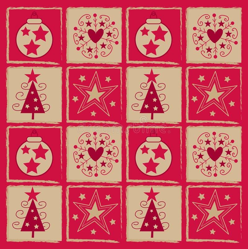 Het vierkant van Kerstmis royalty-vrije illustratie