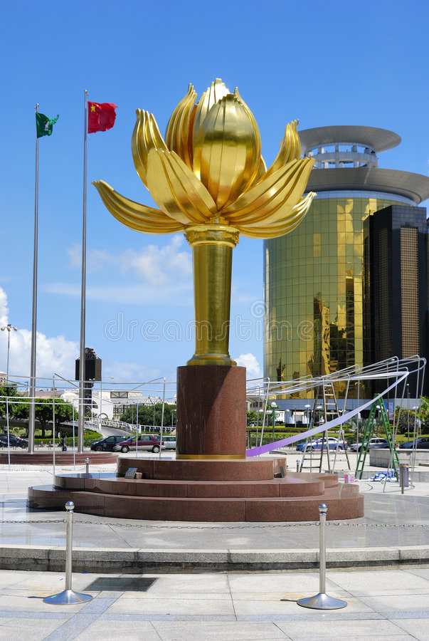 Het vierkant van Lotus in Macao stock afbeelding