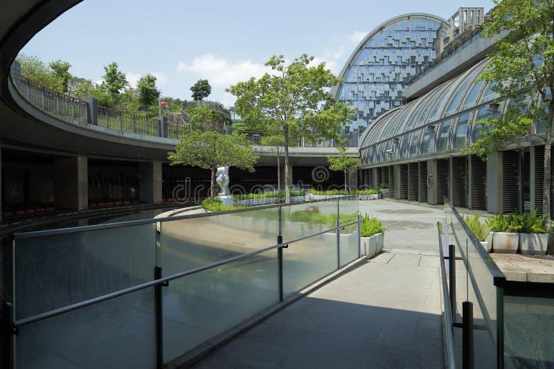 Het vierkant van moderne Daan Park-MRT Post stock foto