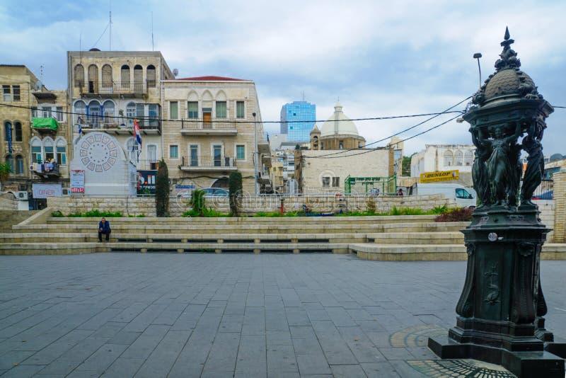 Het Vierkant van Parijs in Haifa stock fotografie