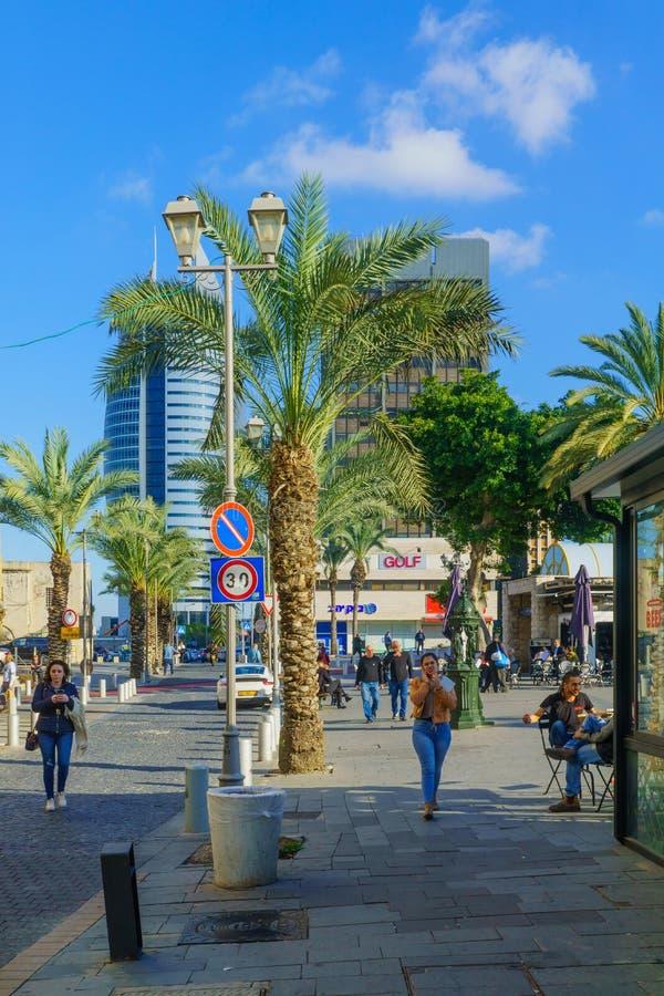 Het Vierkant van Parijs, in Haifa van de binnenstad stock afbeeldingen