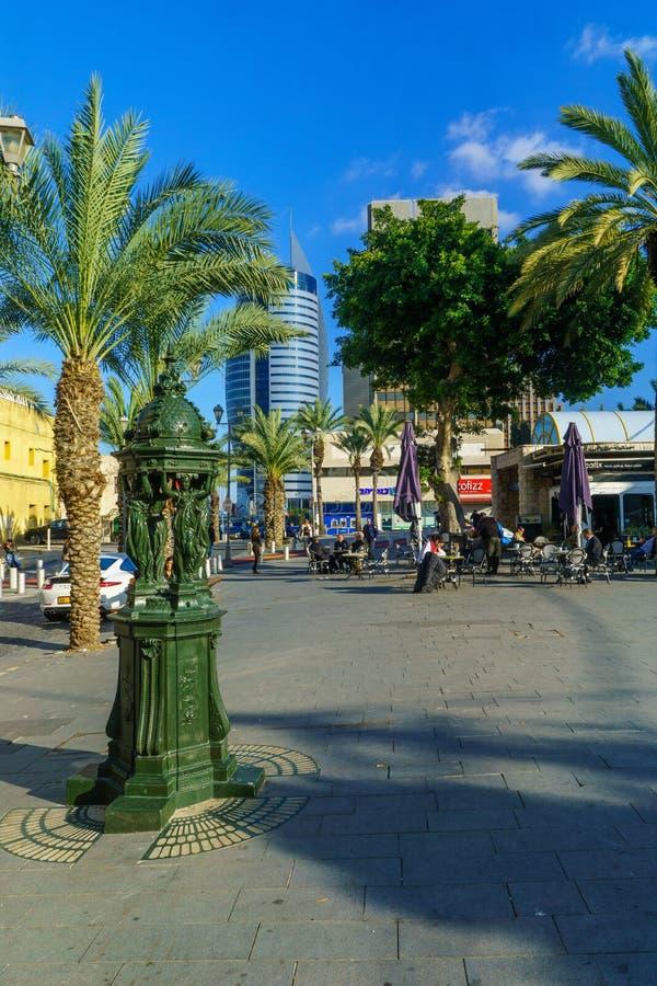 Het Vierkant van Parijs, in Haifa van de binnenstad stock foto's
