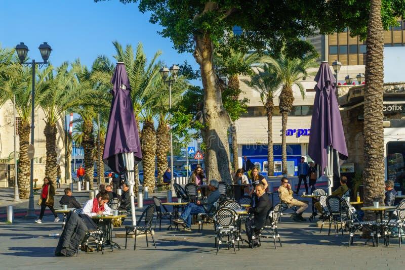Het Vierkant van Parijs, in Haifa van de binnenstad royalty-vrije stock foto's