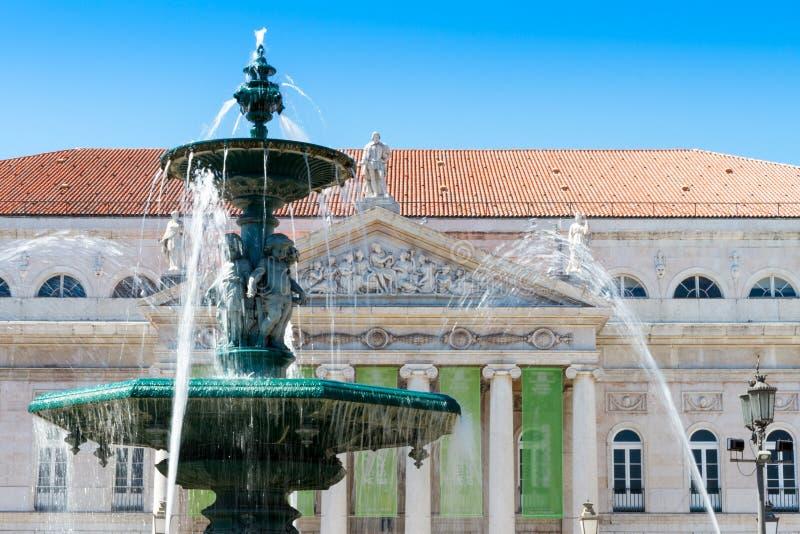 Het Vierkant van Rossio in Lissabon, Portugal royalty-vrije stock fotografie