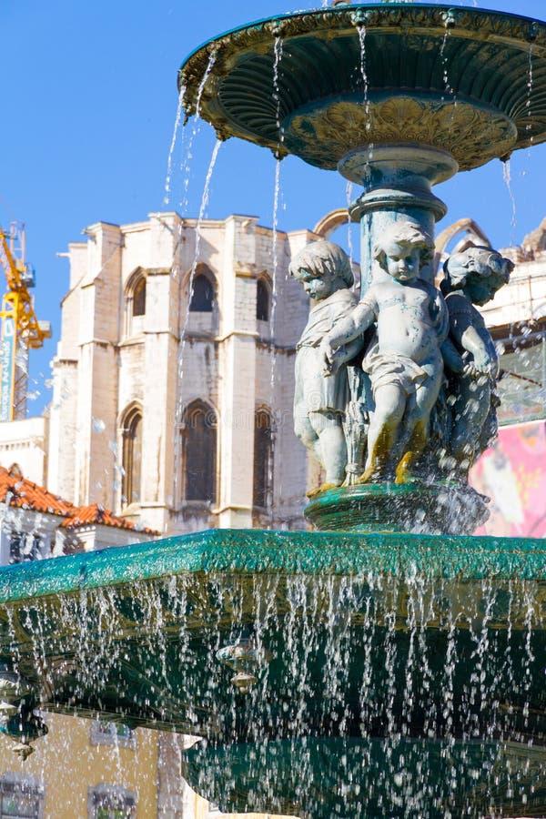 Het Vierkant van Rossio in Lissabon, Portugal royalty-vrije stock afbeeldingen