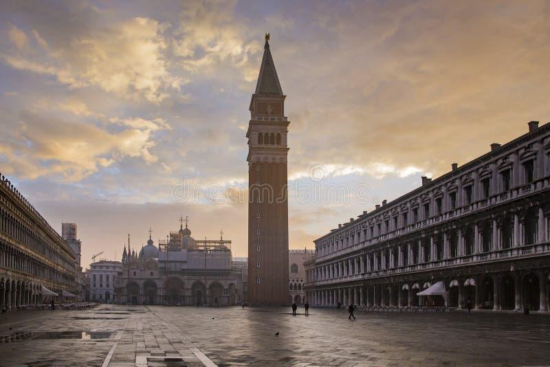 Het Vierkant van San Marco in Venetië royalty-vrije stock fotografie