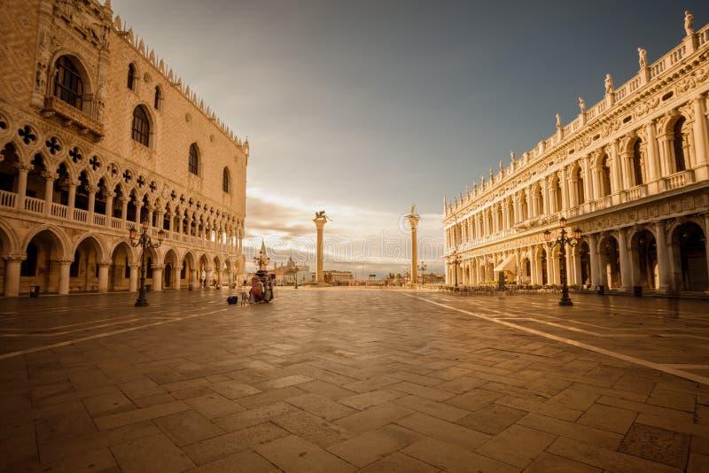 Het vierkant van San Marco Venetië Italië royalty-vrije stock afbeelding