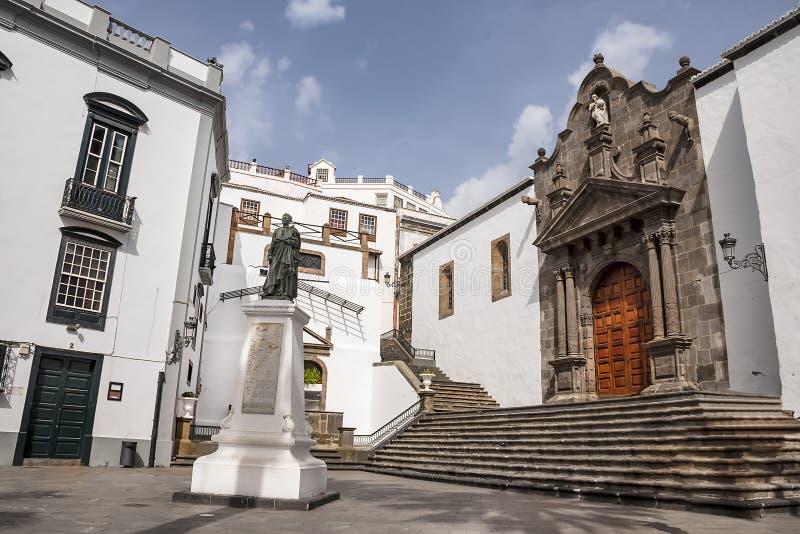Het Vierkant van Spanje, Santa Cruz de La Palma Canarische Eilanden royalty-vrije stock afbeeldingen