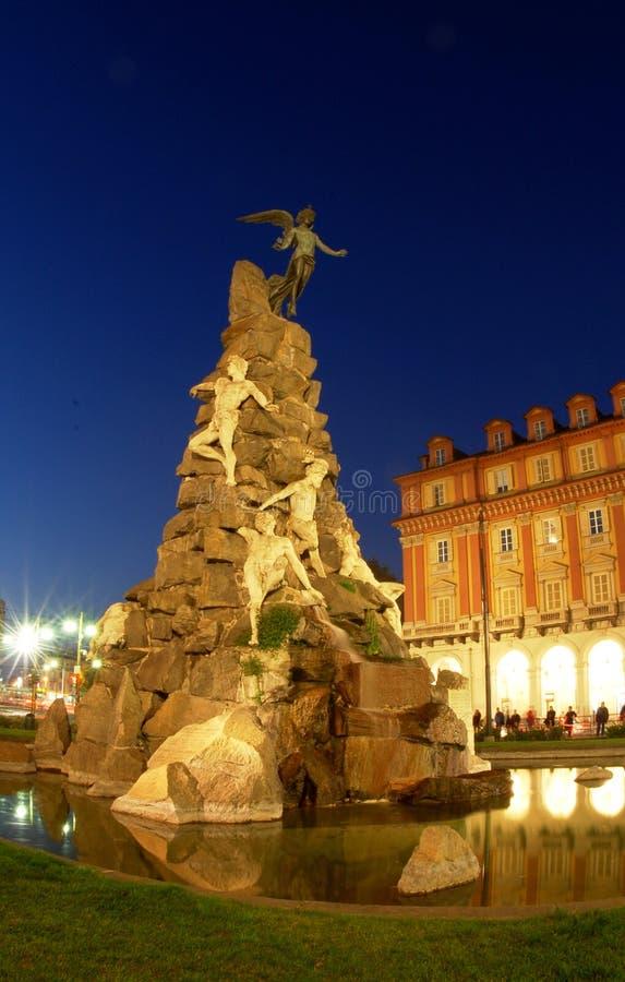Het vierkant van Statuto in Turijn, Italië royalty-vrije stock foto