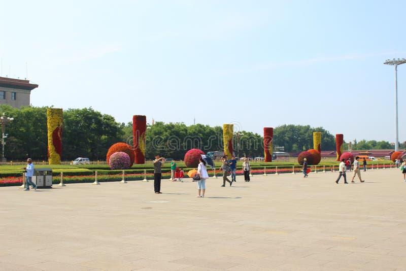 Het Vierkant van Tiananmen, Peking, China stock afbeelding