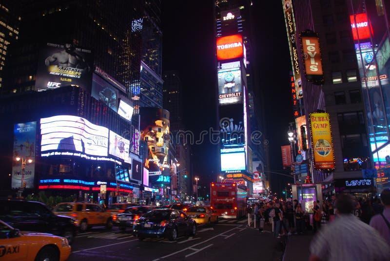 Het vierkant van tijden - de stad van New York stock afbeeldingen