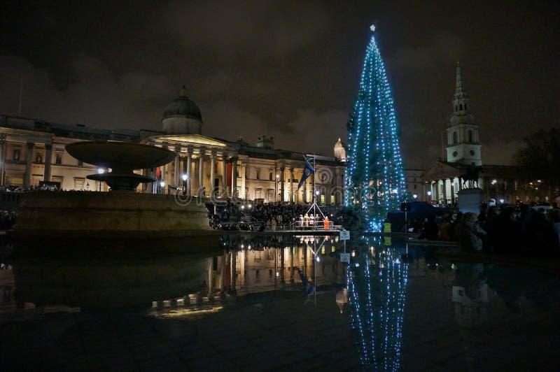 Het vierkant van Trafalgar, Londen stock foto's