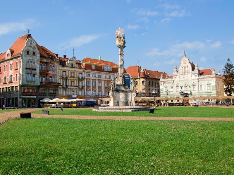 Het Vierkant van Unirii, Timisoara, Roemenië royalty-vrije stock foto's