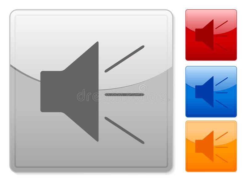 Het vierkante geluid van Webknopen royalty-vrije illustratie