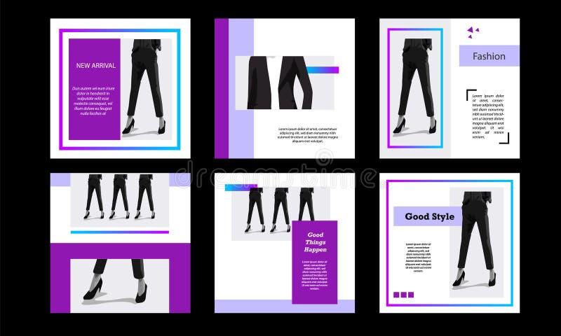 Het vierkante moderne futuristische pak van het bannermalplaatje voor sociale media post royalty-vrije stock afbeeldingen