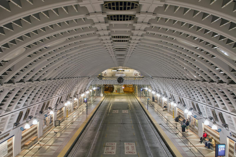 Het Vierkante Ondergrondse Busstation van de pionier stock foto