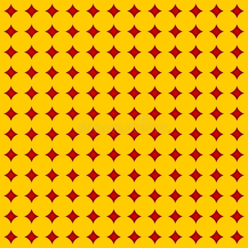 Het vierkante patroon van de diamant stock illustratie