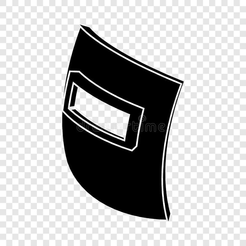 Het vierkante pictogram van het lassenmasker, eenvoudige zwarte stijl vector illustratie